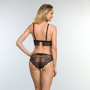 Black lace and microfiber panties for women Refined Lace, , DIM