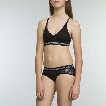 Soutien-Gorge Triangle de Sport Noir fille en coton stretch Dim Sport, , DIM