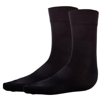 2-pack black men's socks - Bambou, , DIM