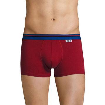 Boxer rouge chili ceinture bleu outremer DIM Colors-DIM