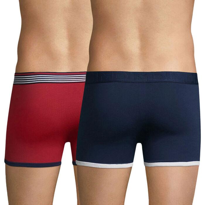 Lot de 2 boxers bleu marin et rouge paprika DIM Cup-DIM