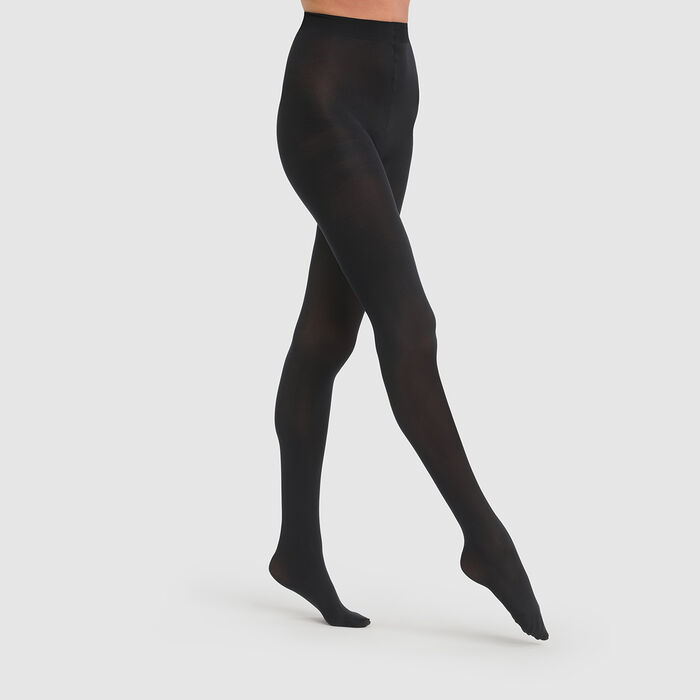 Style 50 opaque velour tights in black, , DIM