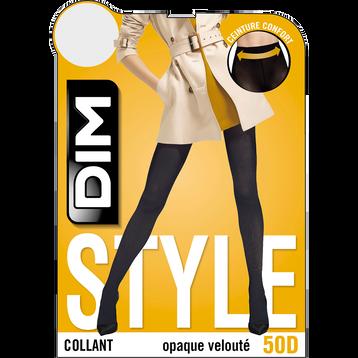 Collant gris charbon opaque veloulé Style 50D-DIM