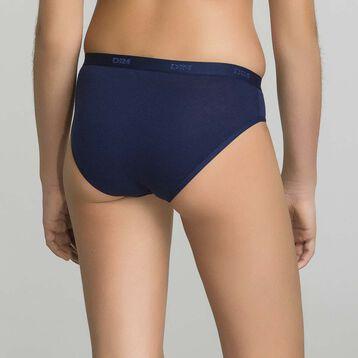 3 pack navy blue briefs for Girl - Pocket Stripes, , DIM