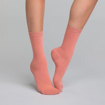 Old pink women's sock in cotton - Dim Basic Coton, , DIM