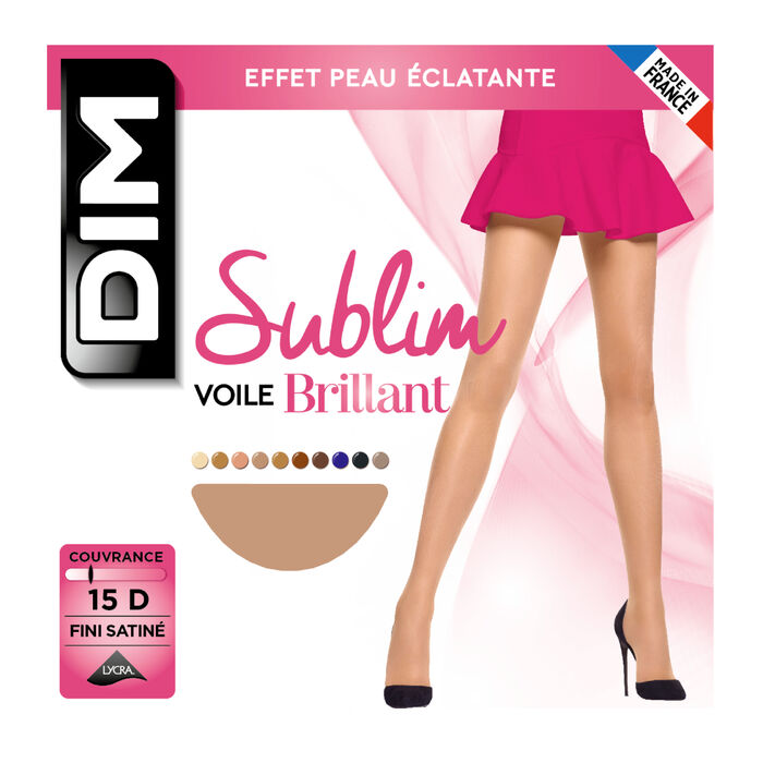 Sublim Voile Brillant 15 sheer shine tights in golden beige, , DIM