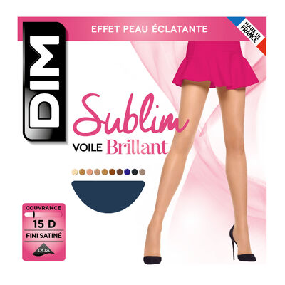 Sublim Voile Brillant 15 sheer shine tights in navy, , DIM