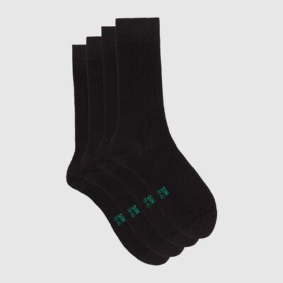 Набор 2шт.: Черные женские длинные носки из натурального хлопка Green by Dim , , DIM