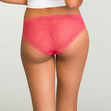 Casual Red brief with polka dots Dotty Mesh, , DIM