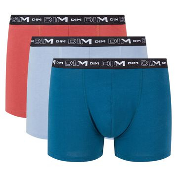3 pack iced blue, midnight blue and vibrant red trunks Coton Stretch, , DIM