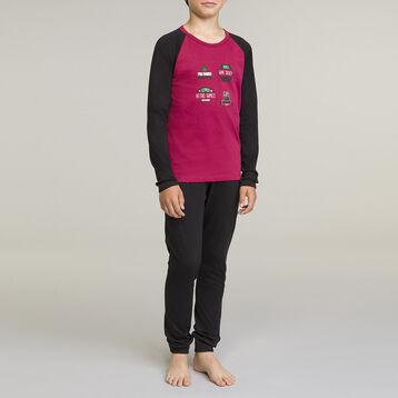 DIM Boy 2-piece long-sleeved pyjama pack Wine Gaming Style, , DIM