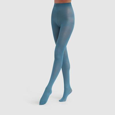 Dim Style 50D  Opaque ocean blue velouté tights, , DIM