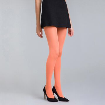 Style 50 velvety Saturn orange opaque tights - DIM