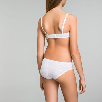 White brief with logo print for girl - Dim Touch , , DIM