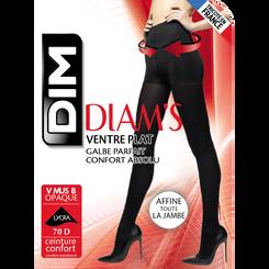 Collant ventre plat noir ultra opaque Diam's 67D-DIM