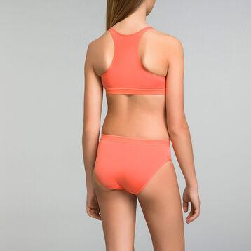 Orange sports bra Dim Girl - Pocket Micro, , DIM