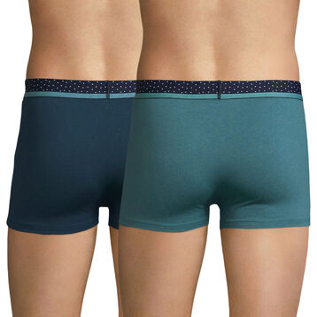 2-pack green trunks with polka dots waistand - Mix and Dots, , DIM