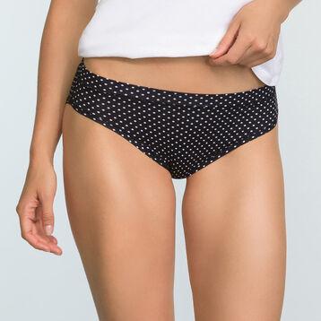 2 pack black and polka dot women's briefs  Body Move, , DIM