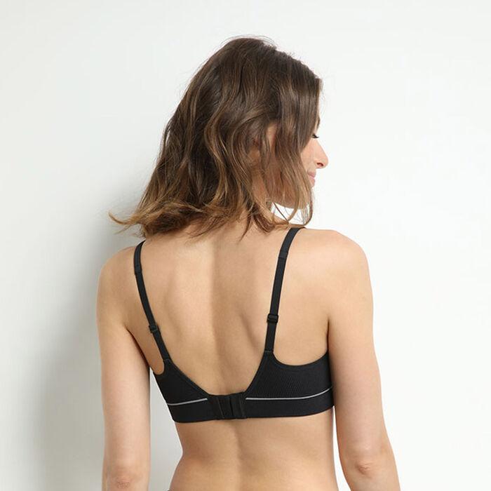 Original Retro Black padded padded triangle bra, , DIM