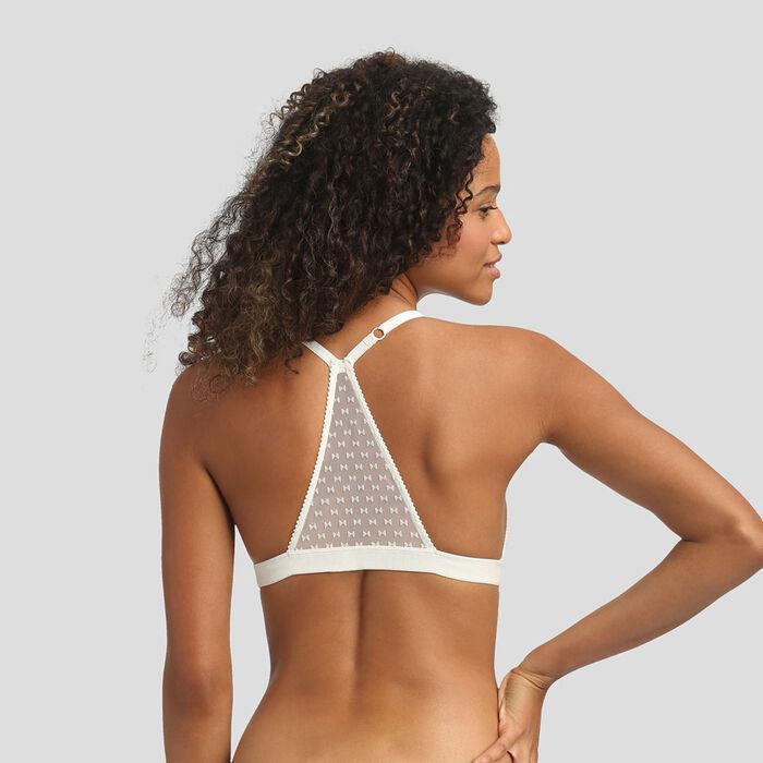 Velvet bow print soft triangle bra Chic Line, , DIM