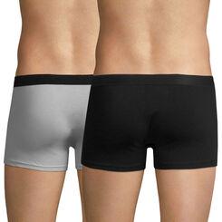 Lot de 2 boxers noir et gris EcoDIM en coton stretch-DIM