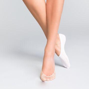 Lot de 4 protège-pieds naturels et blancs - Invisifit  , , DIM