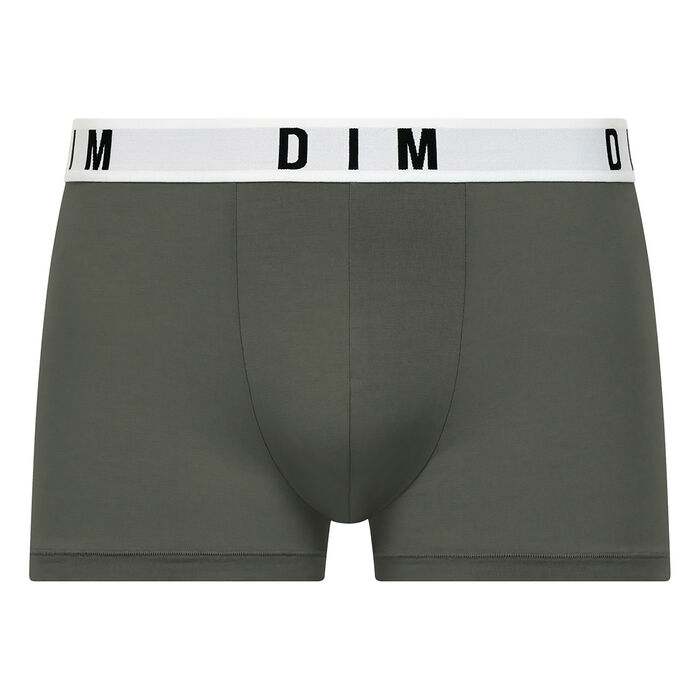 Dim Originals modal cotton trunks in khaki green with khaki waistband, , DIM