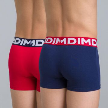 Set of 2 DIM Boy sailor blue and red boxers - DIM