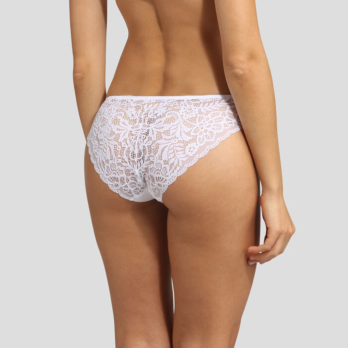 Dim Sublim Lace white briefs , , DIM