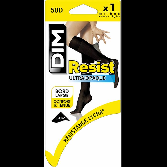 Mi-bas noirs Resist Ultra-opaque 50D-DIM