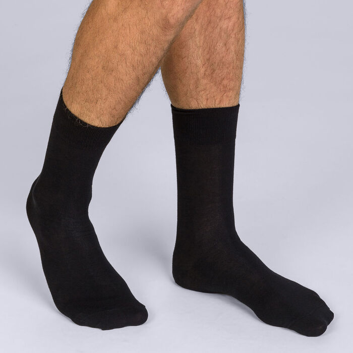 Pack of 2 pairs of black X-Temp socks for men, , DIM