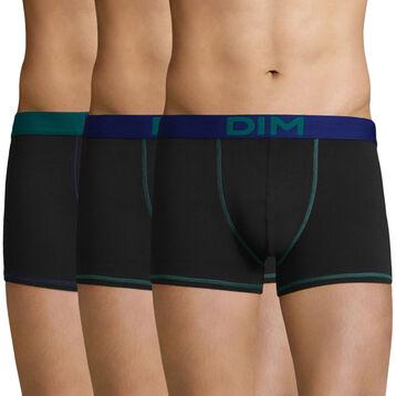 3 Pack trunks Black-Indigo and Black-Turquoise Color Mix, , DIM