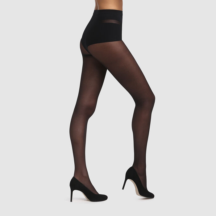 Black Diam's Ventre Plat 25 tummy-flattening tights, , DIM