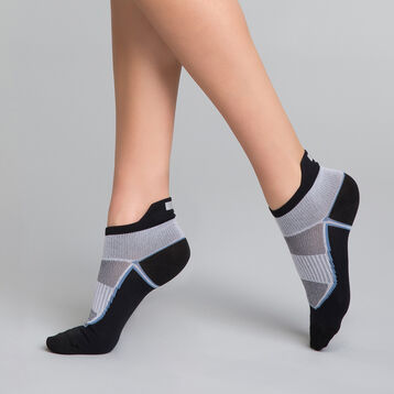 High impact black and grey Women's socks - Dim Sport, , DIM