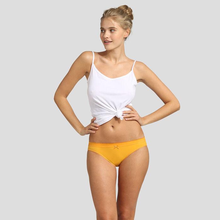 Lot de 2 culottes nacre et jaune or Les Pockets Microfibre de Dim, , DIM