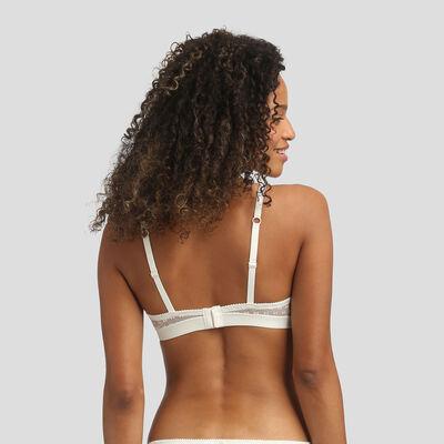 Dim Chic Line pearl velvet bow print balconette bra , , DIM