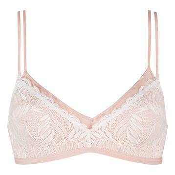 Nude pink modal cotton soft triangle bra , , DIM