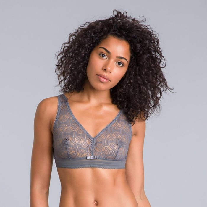 Daily Glam Persian grey lace bralette - DIM