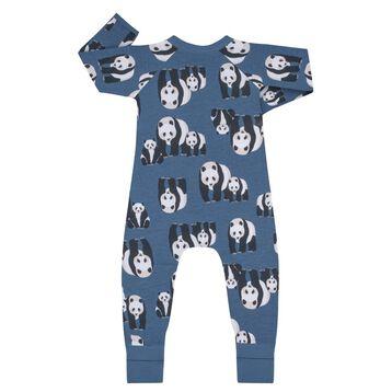 Pyjama bébé zippé Imprimé Panda bleu DIM Baby, , DIM