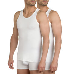 Pack of 2 white X-Temp tanks, , DIM