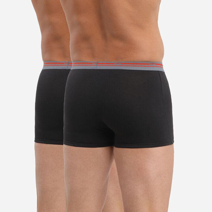 Set of 2 Daily Colors black boxers, , DIM