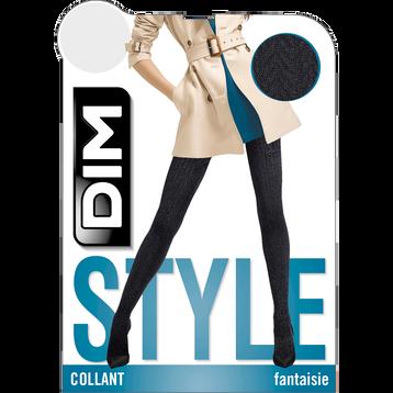 Collant chaud noir tressé Style 110D-DIM