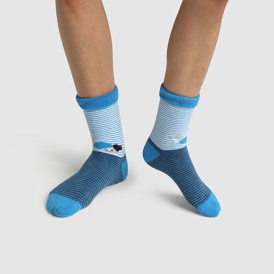 Children's non-slip cocooning socks with octopus motif Dim Cocoon, , DIM