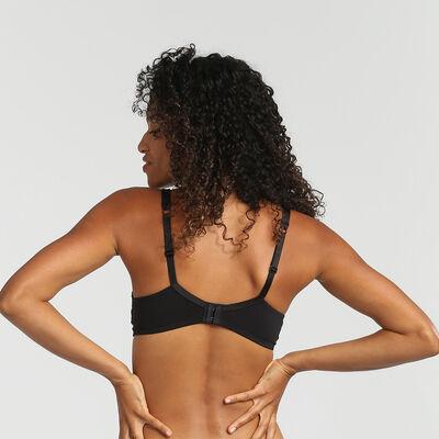 Generous Invisible black wireless bra, , DIM