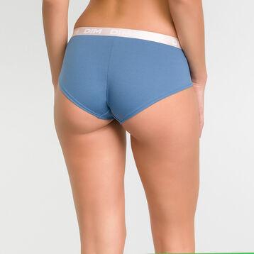 Antique blue shorty in cotton - Les Pockets, , DIM