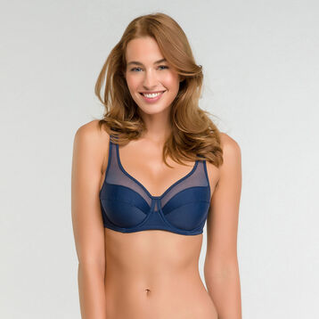 Microfiber full-cup bra in summer night blue - Dim Generous, , DIM