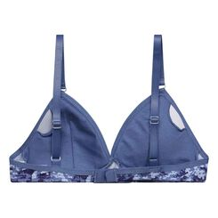 DIM Girl camouflage blue bra with removable padding - DIM