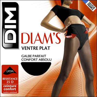Комплект из 2 пар колготок с эффектом плоского живота 25D черного цвета - Diam's, , DIM