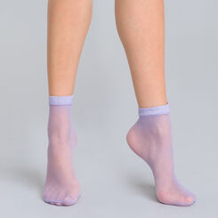 Style lilac fishnet low-cut socks - DIM