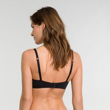 Non-wired invisible black bra - Dim InvisiFree, , DIM